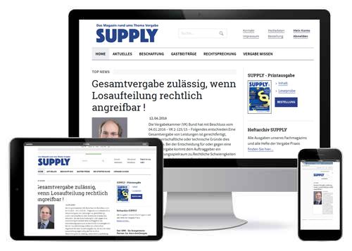 www.supply-magazin.de | Das Newsportal rund um das Thema Vergabe